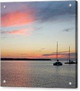 Pink Sky After Sunset, Oia, Santorini Acrylic Print