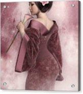 Pink Snow Acrylic Print