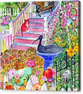 Pink Stairs Acrylic Print