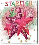Pink Starfish Acrylic Print