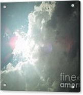 Pink Sun Glow Before The Storm Acrylic Print