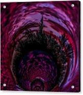 Pink Sunset Illusion 2 Acrylic Print