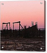 Pink Sunset Over Corral Acrylic Print