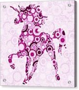 Pink Unicorn - Animal Art Acrylic Print