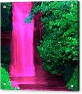 Pink Waterfall Acrylic Print
