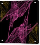 Pink Web Acrylic Print
