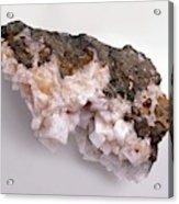 Pink-white Chabazite In Basalt Groundmass Acrylic Print