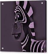Pink Zebra Acrylic Print