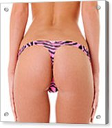 Pink Zebra Thong Acrylic Print