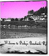 Pinky's Beachside Resort Acrylic Print