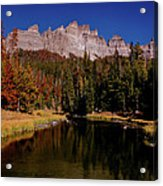 Pinnacle Buttes On Brooks Lake Creek Rocky Mountains Acrylic Print
