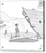 Pinocchio Addresses The Wooden Mermaid Acrylic Print