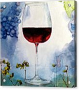 Pinot From Vine To Glass II Acrylic Print