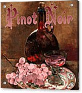 Pinot Noir Vintage Advertisement Acrylic Print by
