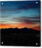 Pintler Sunset  Acrylic Print by Kevin Bone