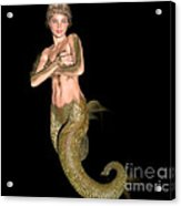 Pinup Mermaid Acrylic Print