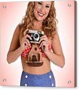 Pinup Photographer Acrylic Print