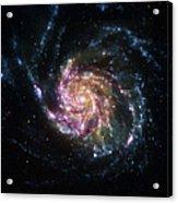 Pinwheel Galaxy Rainbow Acrylic Print