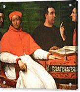 Piombo's Cardinal Bandinello Sauli And His Secretary And Two Geographers Acrylic Print