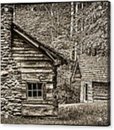 Pioneer Cabin And Shed In Cades Cove E227 Acrylic Print