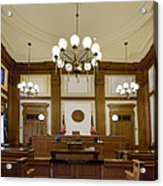 Pioneer Courthouse Courtroom In Portland Oregon Downtown Acrylic Print