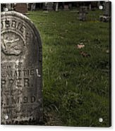 Pioneer Grave Acrylic Print by Jean Noren