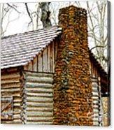 Pioneer Log Cabin Chimney Acrylic Print