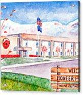 Pioneer Peak Elementary School Acrylic Print