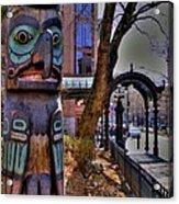 Pioneer Square Totem Pole Acrylic Print