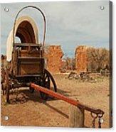 Pionner Wagon Acrylic Print