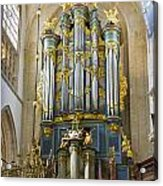Pipe Organ In Breda Grote Kerk Acrylic Print
