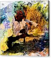 Pipe Smoking Ritual Chillum India Rajasthan 1 Acrylic Print