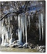 Pipecreek Icicles Acrylic Print