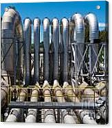 Pipeline Installation For Distribution And Supply Acrylic Print
