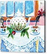 Pipers Sipping Christmas Tea Acrylic Print