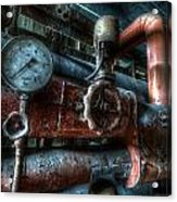 Pipes And Clocks Acrylic Print