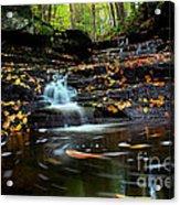 Pipestem Falls Acrylic Print