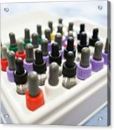 Pipette Bottles In Tray Used For Allergy Test Acrylic Print