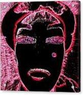 Pippas Pink Beauty Mark Acrylic Print