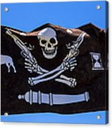 Pirate Flag With Skull And Pistols Acrylic Print