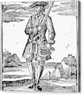 Pirate John Rackam, 1725 Acrylic Print
