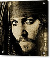 Pirate Life - Sepia Acrylic Print