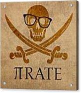 Pirate Math Nerd Humor Poster Art Acrylic Print