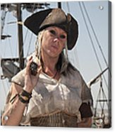 Pirate Queen With A Bad Attitude Acrylic Print