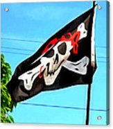 Pirate Ship Flag Of The Skull And Crossbones Acrylic Print
