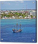 Pirate Ship In Cozumel Acrylic Print