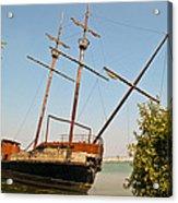 Pirate Ship Or Sailing Ship Acrylic Print