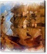 Pirate Ship Photo Art Acrylic Print