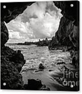 Pirate Treasure Cave Pa'iloa Beach Acrylic Print