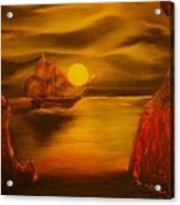 Pirates Cave- Original Sold - Buy Giclee Print Nr 27 Of Limited Edition Of 40 Prints  Acrylic Print